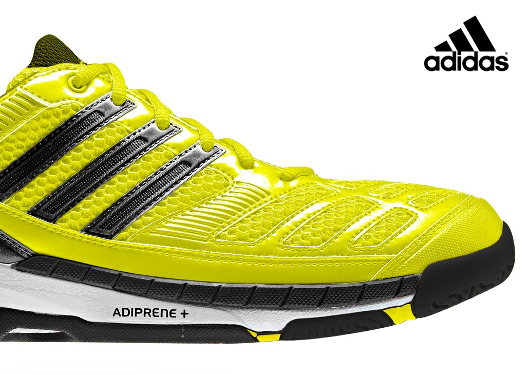 Adidas Bt Feather Badminton Shoes Yellow