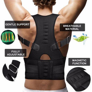 Adjustable Magnetic Posture Corrector (Upper Back+ Waist Belt) For Both Men & Women - YogaDeal