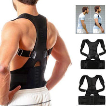 Load image into Gallery viewer, Adjustable Magnetic Posture Corrector (Upper Back+ Waist Belt) For Both Men & Women - YogaDeal