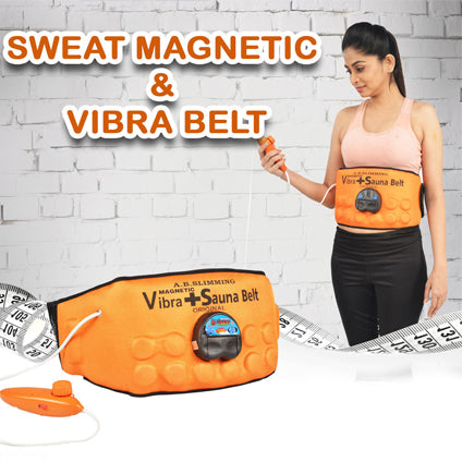 3 in 1 Advanced Heating Vibrating Magnetic Sauna Slim Belt For Both Men & Women - YogaDeal