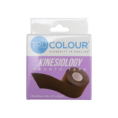 Tru-Colour Kinesiology Tape for Dark Brown Skin - Single Roll