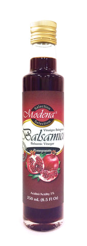Pomegranate Balsamic Vinegar by Modena Selection 250mL|Balsamique aux Grenades de Sélection Modena 250mL