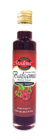 Raspberry Balsamic Vinegar by Modena Selection 250mL|Balsamique aux Framboises de Sélection Modena 250mL