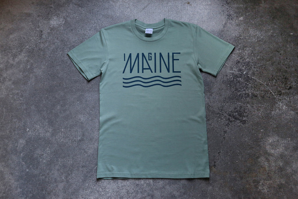 Imagine Maine Tee - Brick, Blush, Natural, Sage or Forest