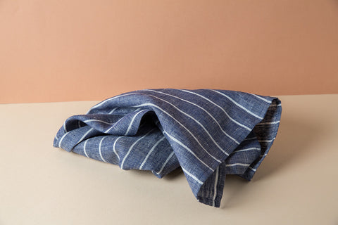 Linen Kitchen Towel - Beach Blue