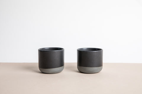 Sip Cup Set of Two - Midnight Black
