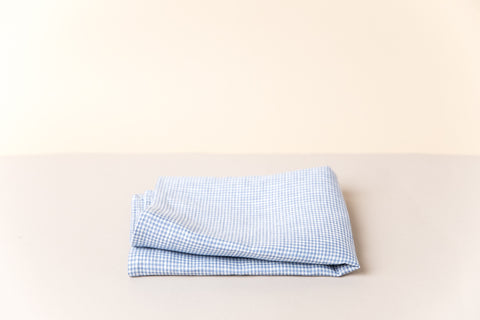 Linen Kitchen Towel - Sky Blue Gingham