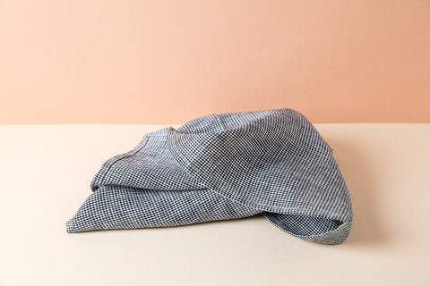 Linen Kitchen Towel - Houndstooth