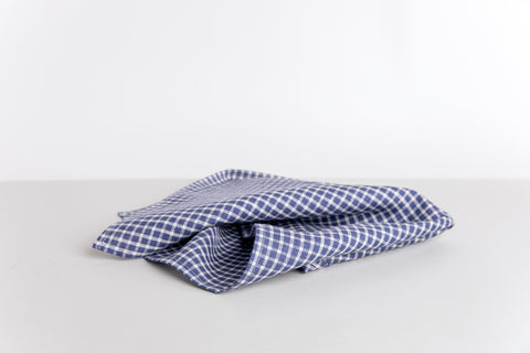 Linen Kitchen Towel - Midnight Plaid