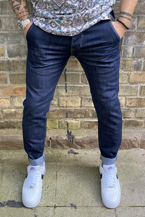 BASIC SLIM FIT CHINO JEANS DARK BLUE Z106 - ZERO81