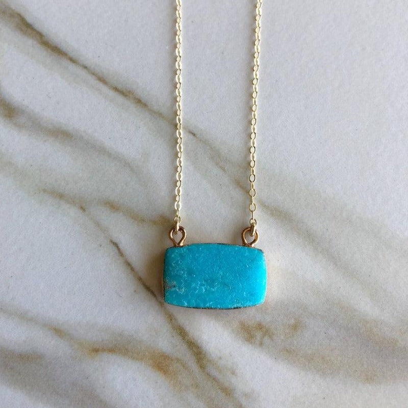 Turquoise Cushion Necklace