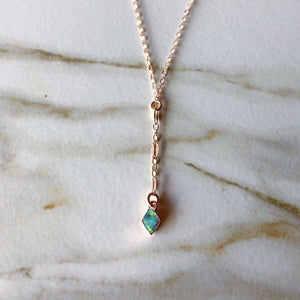 Bitsy Opal Lariat Necklace