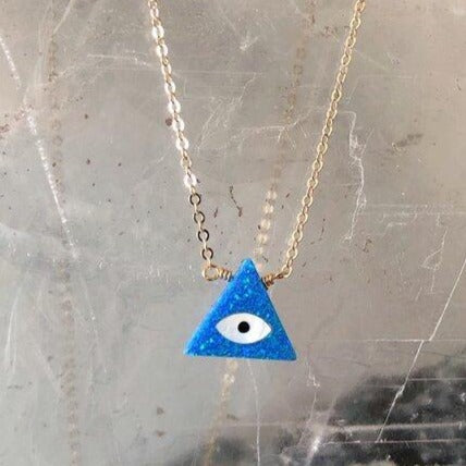 Pyramid Opal Eye Necklace