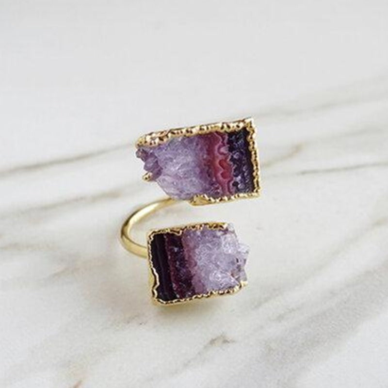 Amethyst Duo Ring