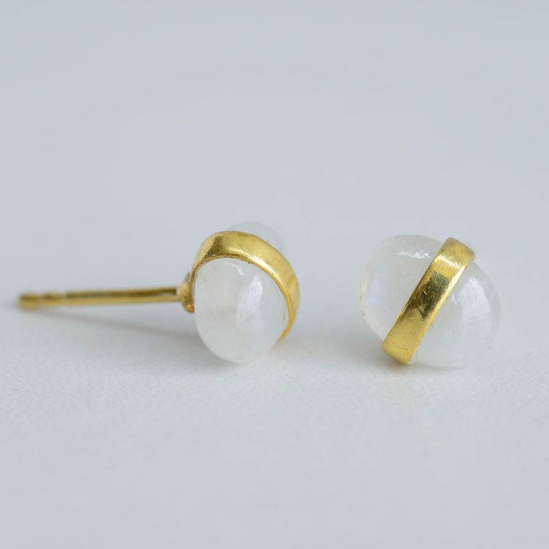 Pebble Gem Studs