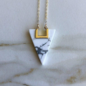 Triangle Geometric Necklace
