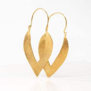Almond Outline Hoops
