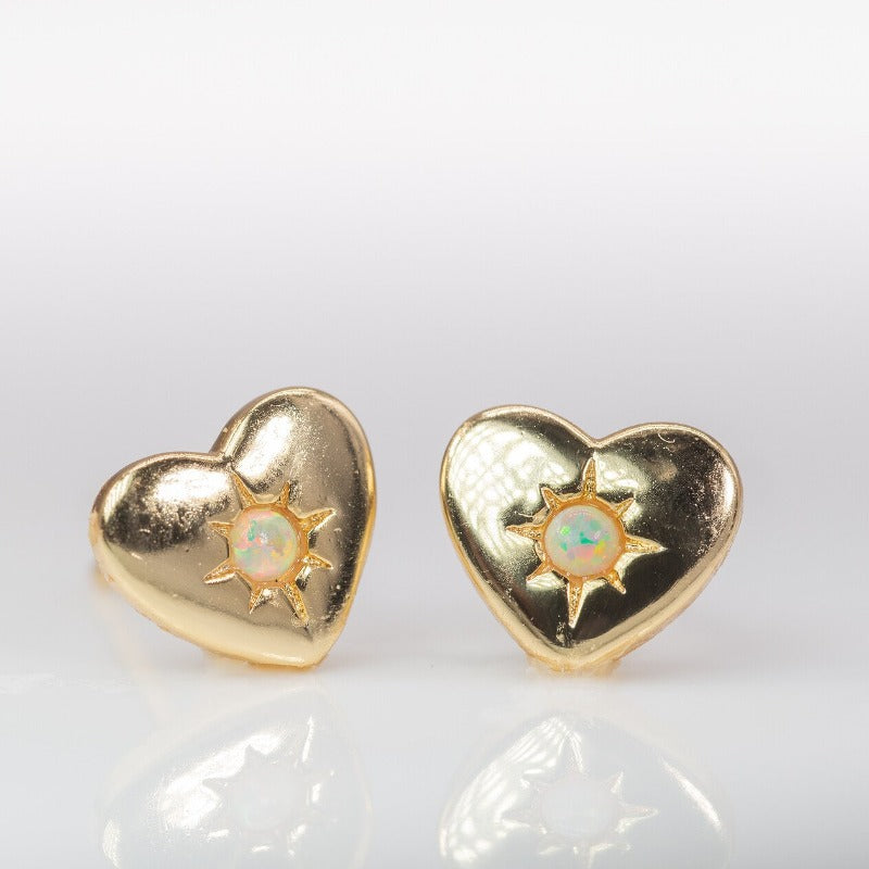 Opal Coeur Pillow Studs