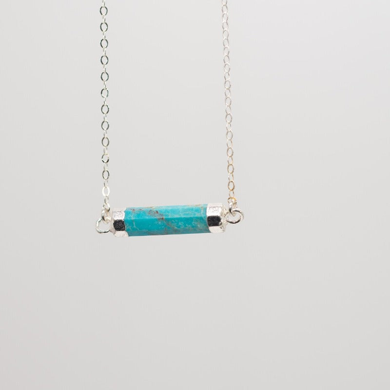 Turquoise Cylinder Necklace