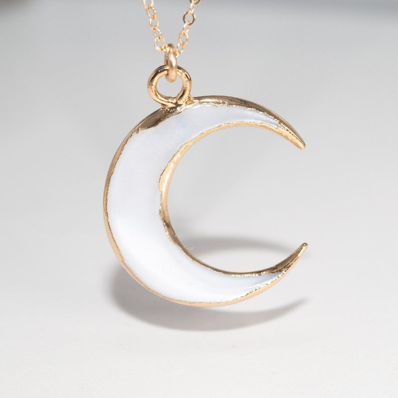 Shell Crescent Moon Necklace