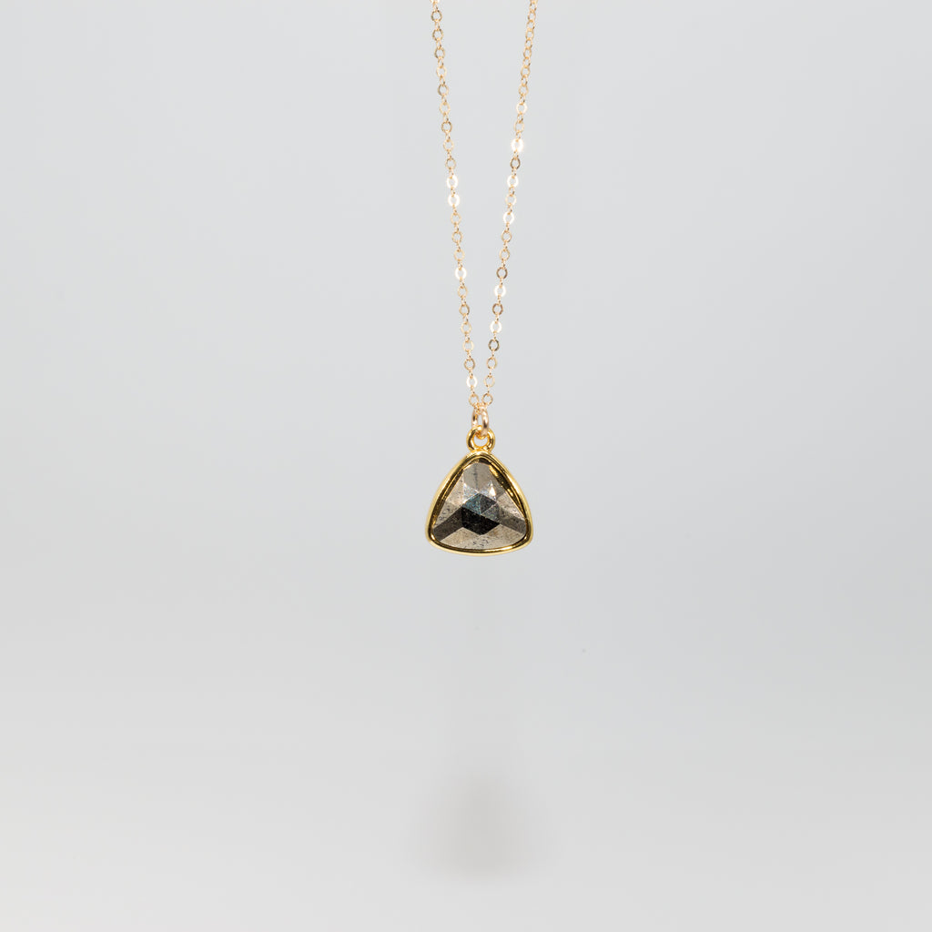 Pyrite Gem Necklace