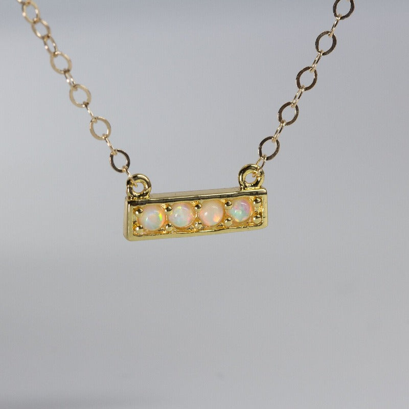 Triple Pave Bar Necklace