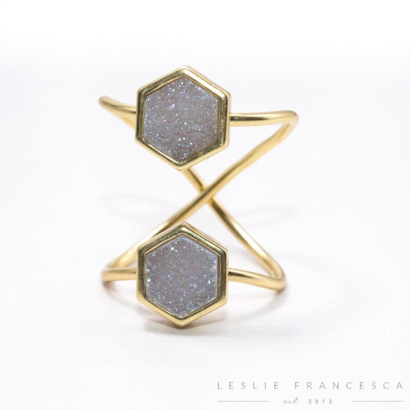 Hexagon Double Duo Ring