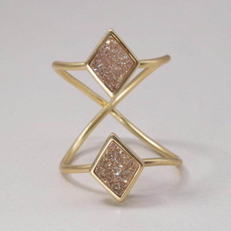 Diamond Double Duo Ring