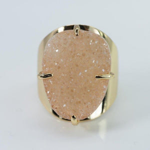 Statement Druzy Cuff Ring