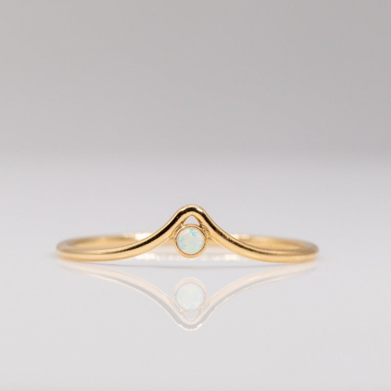 Chevron Opal Ring