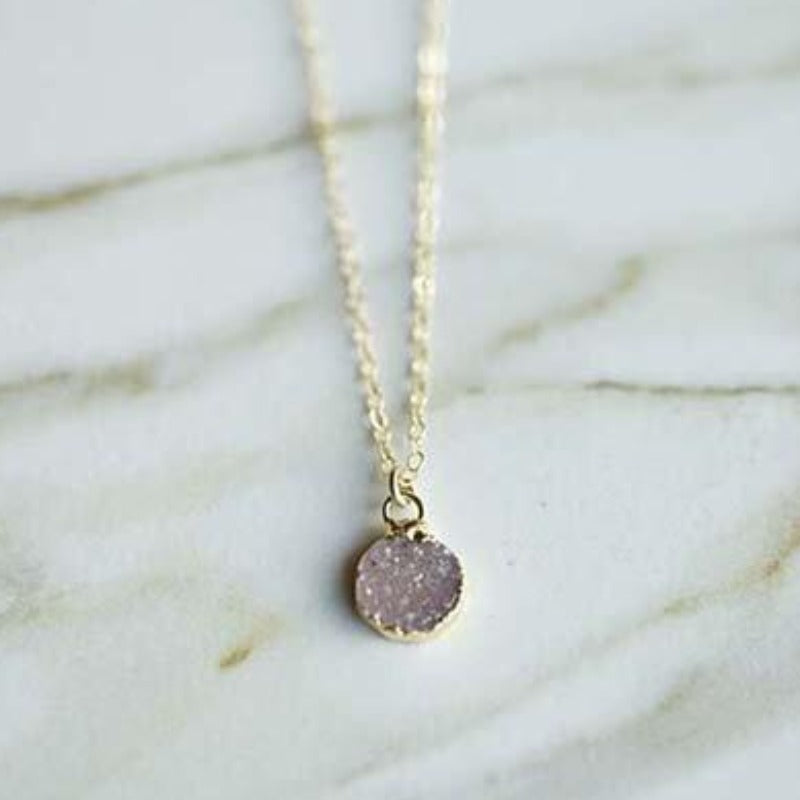 Mini Druzy Necklace