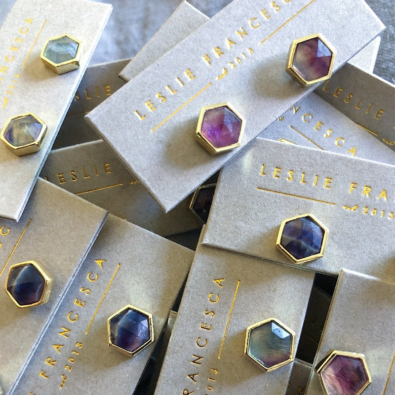 Bitsy Hexagon Studs