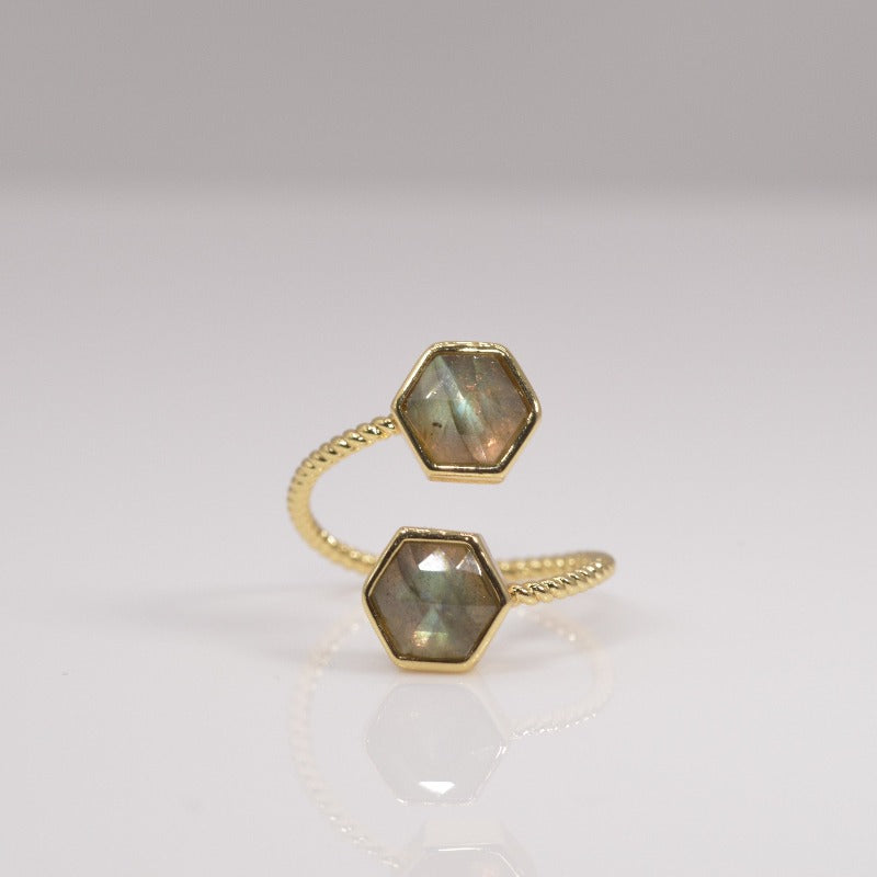 Duo Twisted Stack Ring