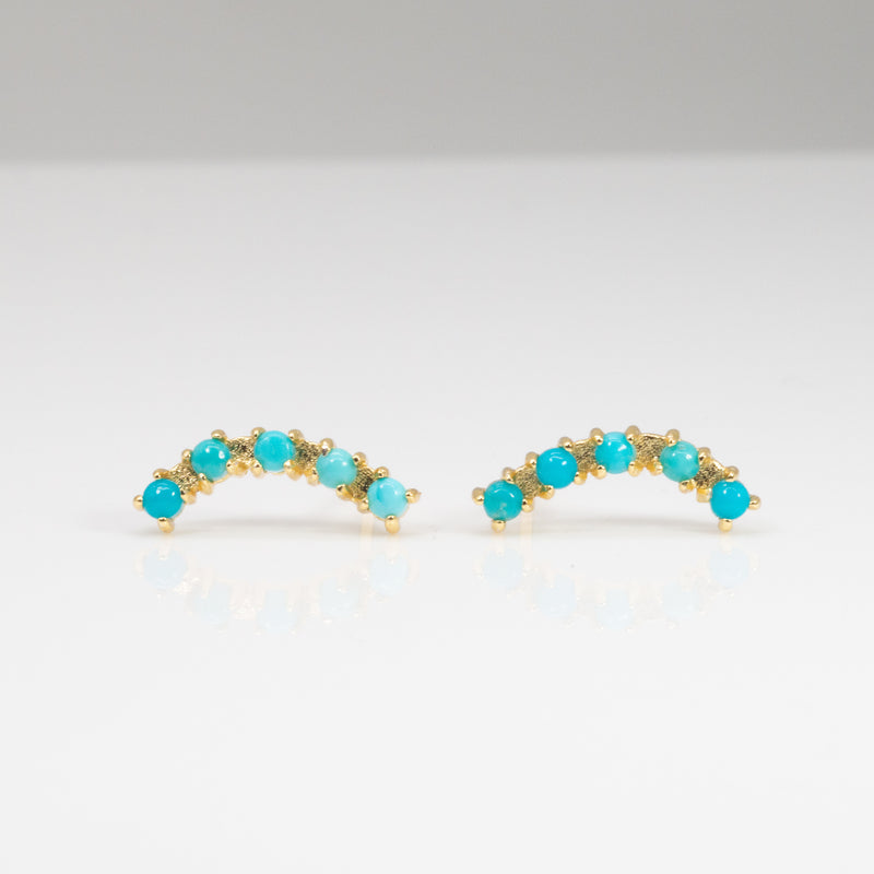 Pave Turquoise Crawler Studs