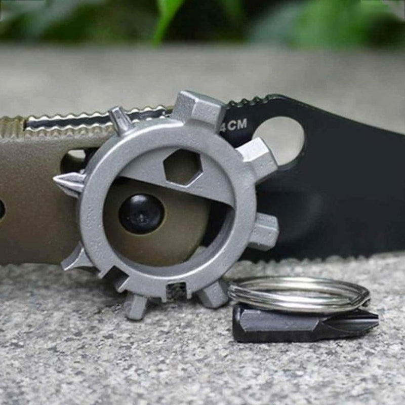 Amenitee 12-in-1 Gear Stainless Steel Sunflower Multi-tool