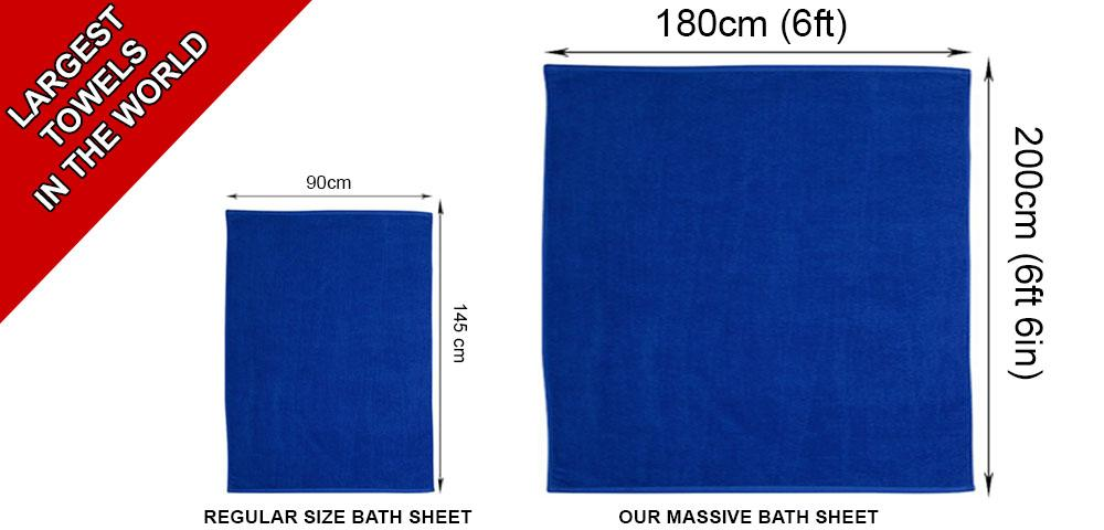 Turkish Cotton Bath Sheet 180cm x 200cm Super Jumbo 600gsm | 6 Colours