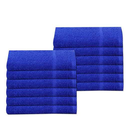 Royal Blue Gym Sport Towels 30 x 85cm 100% Cotton 450gsm