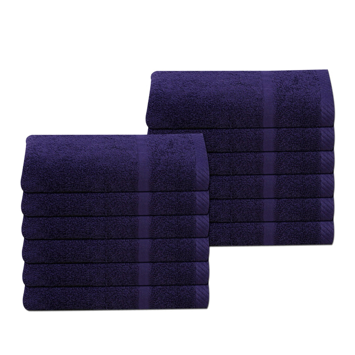 Navy Blue Gym Sport Towels 30 x 85cm 100% Cotton 450gsm