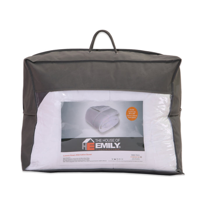 Double Size All Seasons Duvet Microfibre Down Alternative Hypoallergenic