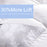 "7 FT Emperor Mattress Topper Fibre Filled 4"" Thick Hotel Quality - Pre Order Back in Stock 30/04/2021"
