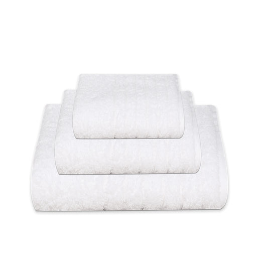 thick white bath towels