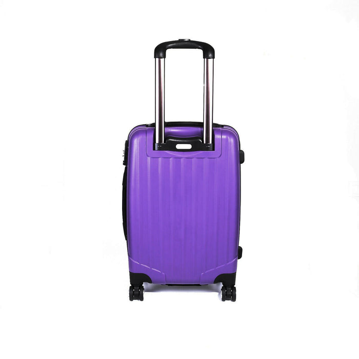 Purple Suitcase Set of 3 Hard Shell Luggage X 4 Double Spinner Wheels