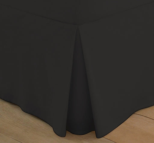 Superking Box Pleated Base Valance Black 200 TC