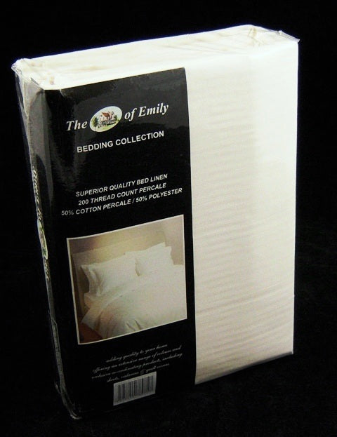 Cream Single Quilt Cover Set Polycotton 200Tc