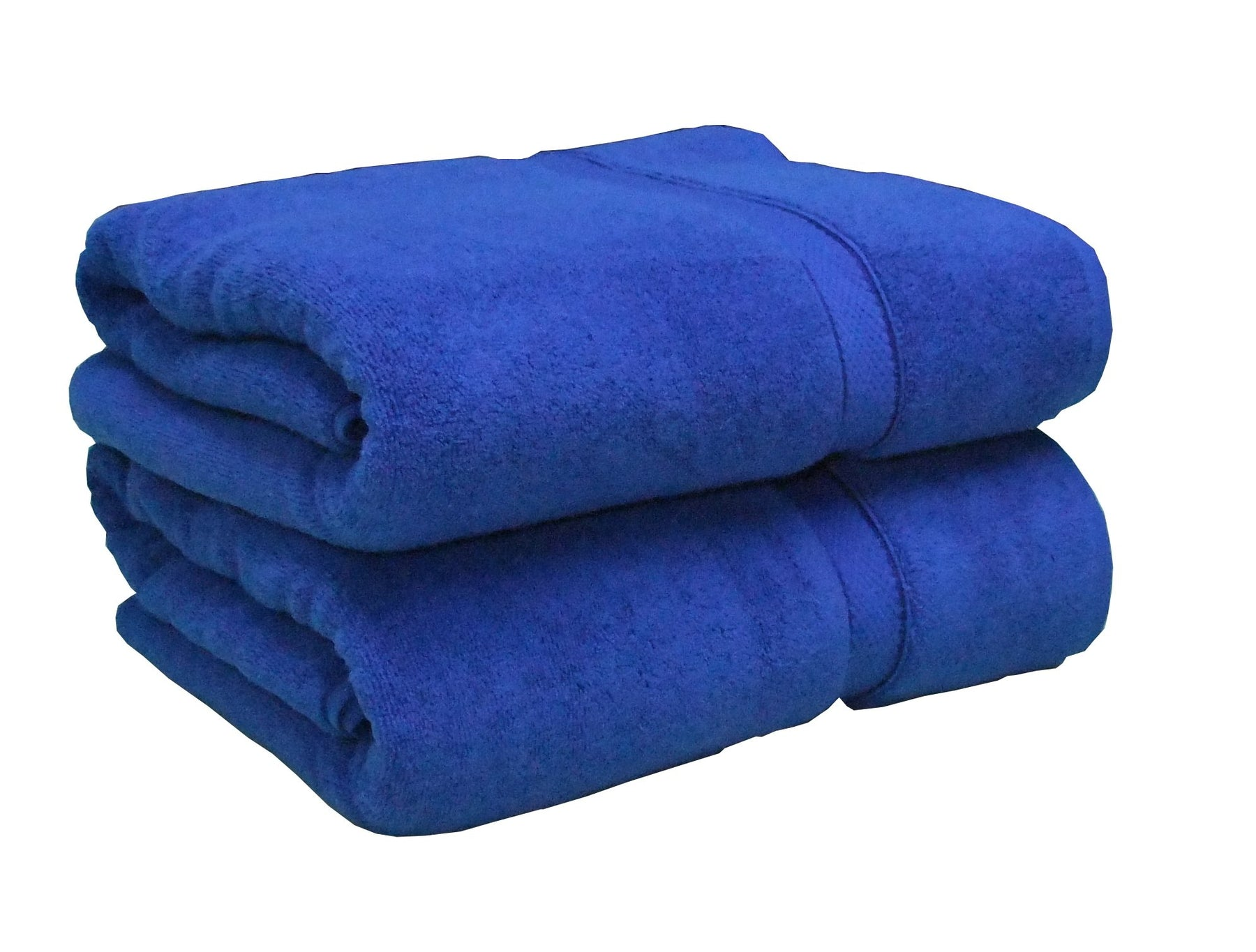 classic blue 100% cotton towels