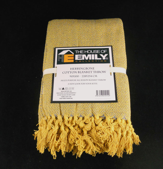 ochre yellow throw