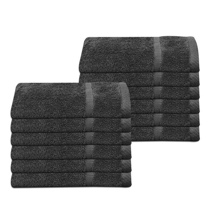 Cheap Grey Hand Towels 100% Cotton 400 GSM Pack of 12