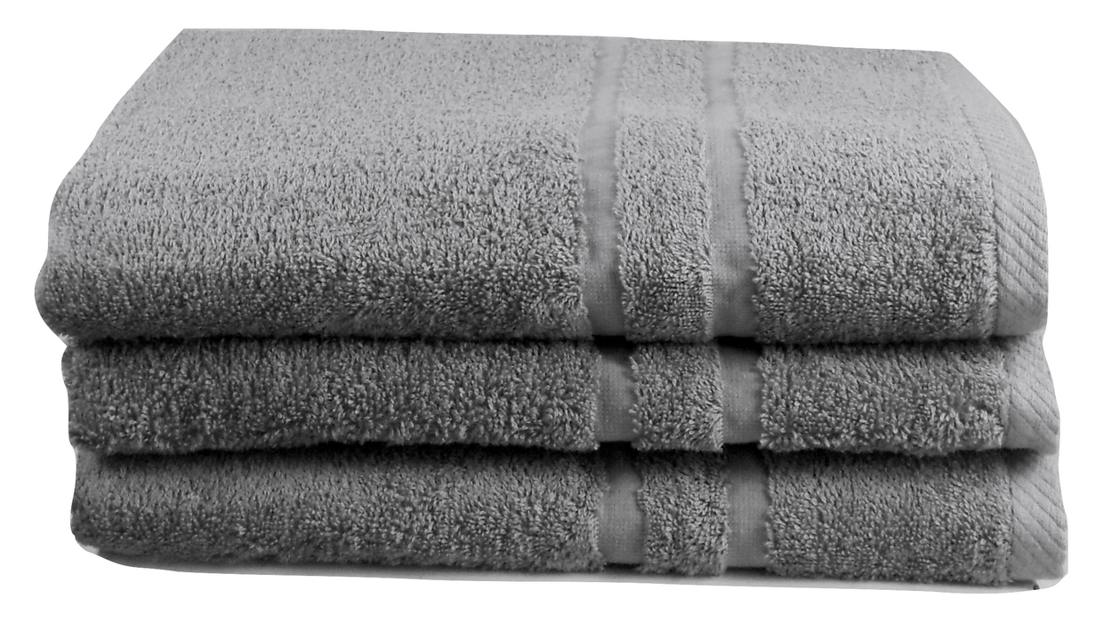 Grey Towels 100% Cotton 450 gsm Hand and Bath Sizes