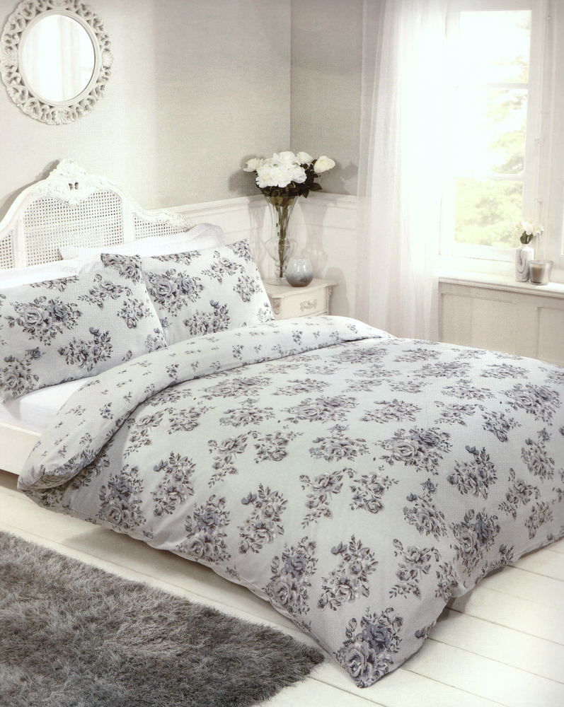 Grey Blue Duvet Cover Sets Single Double & King