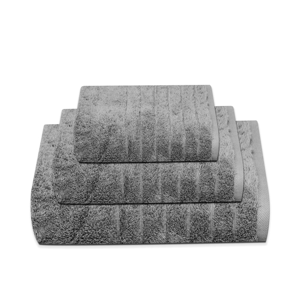 thick grey cotton towels